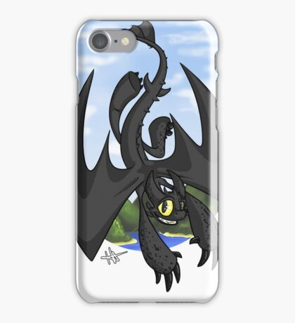 Afternoon Flight - Toothless iPhone Case/Skin