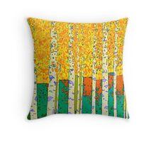 Birch wood Throw Pillow