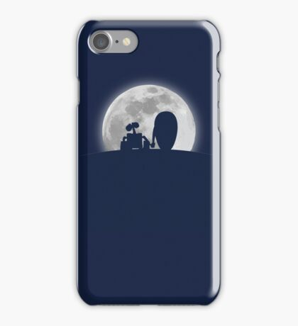 Wall•E and EVE in the Moonlight, Awwwww. iPhone Case/Skin