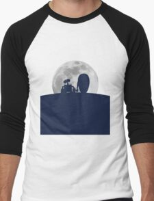 Wall•E and EVE in the Moonlight, Awwwww. Men's Baseball ¾ T-Shirt