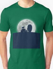 Wall•E and EVE in the Moonlight, Awwwww. Unisex T-Shirt