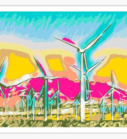 wind turbine in the desert  Sticker