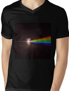 Light Prism Color Spectrum Mens V-Neck T-Shirt