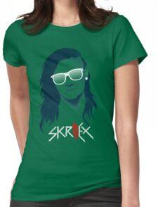 skrillex - dubstep - flat design Womens Fitted T-Shirt