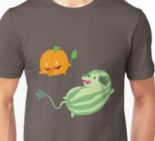 Pumpkin and Watermelon Pups Unisex T-Shirt