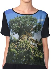 Tree of Life Poster-Style Artwork Chiffon Top
