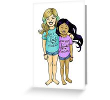 Gracie & Alba - BFFs Greeting Card