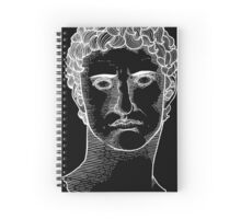 Topographical Portrait of Augustus Caesar (in white) Spiral Notebook