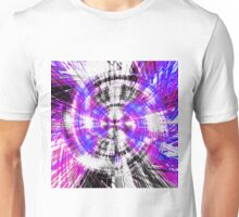 pink blue purple and black circle plaid pattern  Unisex T-Shirt