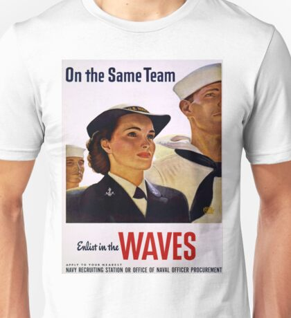 Vintage poster - Enlist in the Waves Unisex T-Shirt