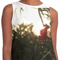 Red flower shine  Contrast Tank