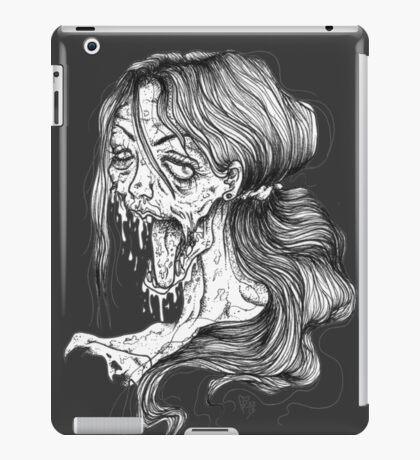 Shut Your Mouth Zombie (White) iPad Case/Skin