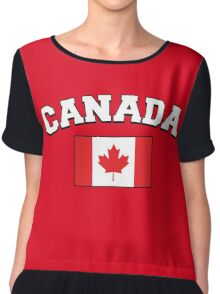 Canada Supporters Chiffon Top