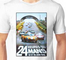 DU MANS;Vintage Auto Racing Advertising Print Unisex T-Shirt