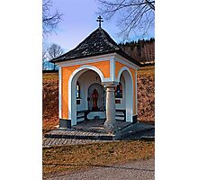Beautiful chapel along the way   architectural photography Photographic Print
