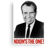 Nixon's The One! - Richard Nixon 1968 Campaign Canvas Print