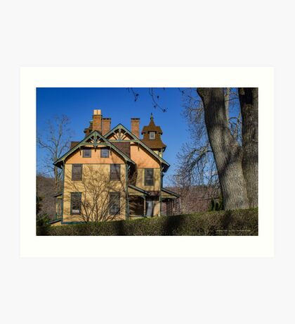 Old House In Main Street Historic District | Cold Spring Harbor, New York Art Print