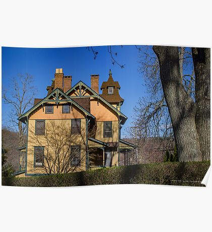 Old House In Main Street Historic District | Cold Spring Harbor, New York Poster