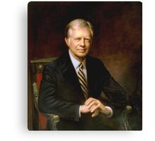 "Presidential Portrait James Earl ""Jimmy"" Carter Canvas Print"