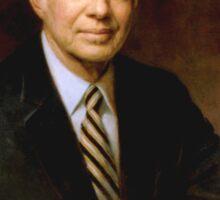 """Presidential Portrait James Earl """"Jimmy"""" Carter Sticker"""