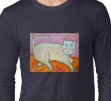 Lipgloss Cat with Red Bird Long Sleeve T-Shirt