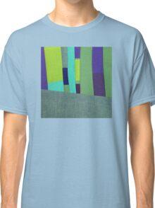 Green and Purple Fabric Art Classic T-Shirt