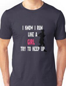 Girl Runner Graphic | I Run Like a Girl Unisex T-Shirt
