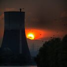 A Nuclear Sunset. by Larry Lingard-Davis