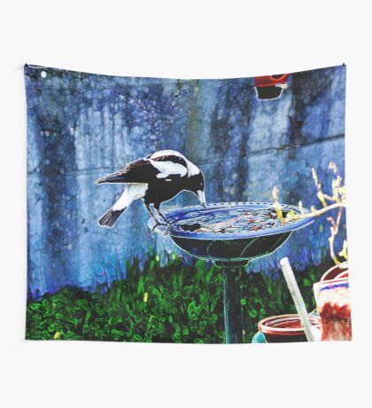 My provincial urban Magpie Wall Tapestry