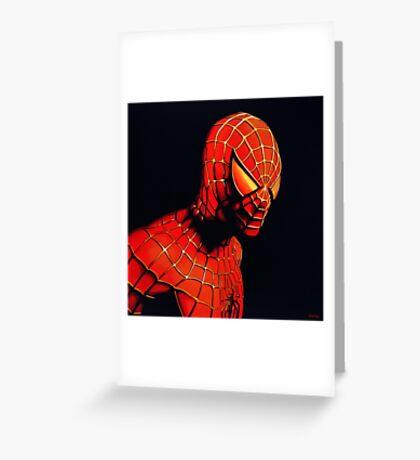 Spiderman Painting Greeting Card