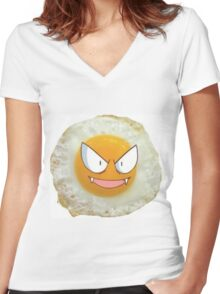Sunny Side Gastly Women's Fitted V-Neck T-Shirt