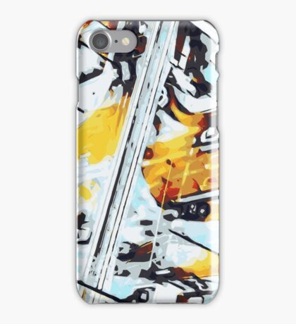 cars on the road in the city  iPhone Case/Skin