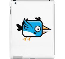 Little Squared Blue Bird iPad Case/Skin