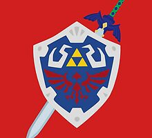 Hylian Shield and Master Sword zelda by ferteban