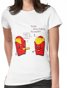 Tasty Fries Womens Fitted T-Shirt