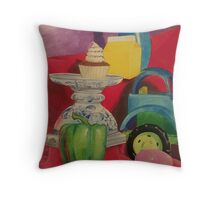 Day in the Diner Throw Pillow