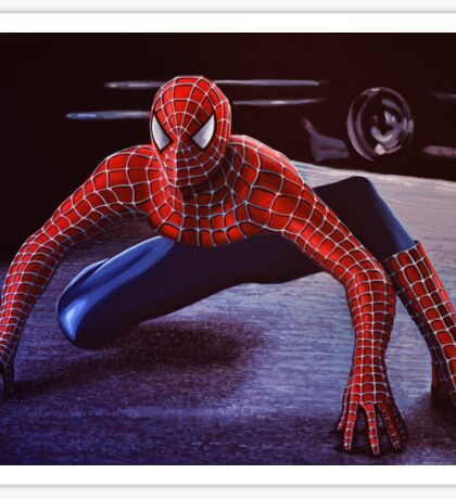 Spiderman Painting 2 Sticker