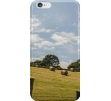 Hay rolling down the hillside iPhone Case/Skin
