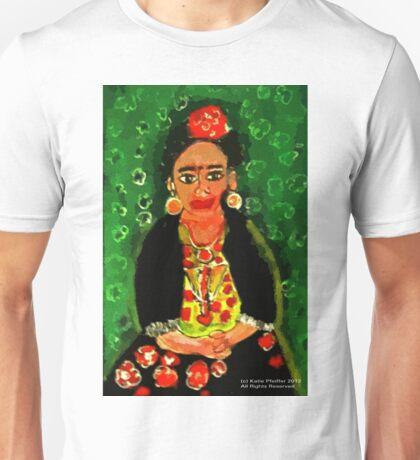 Mexican  Frida Folk Art Portrait Unisex T-Shirt