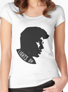 Shawn Sillhoutte // Nov #2 Women's Fitted Scoop T-Shirt