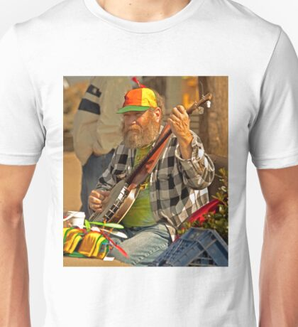 San Francisco Street Musician with Banjo  Unisex T-Shirt