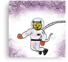 Space Leopard  Canvas Print