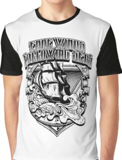 Nautical Vintage Ship Waves, Fare Winds Following Seas Graphic T-Shirt