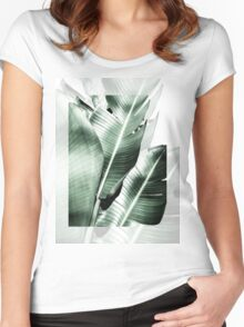 Banana leaf akin Women's Fitted Scoop T-Shirt