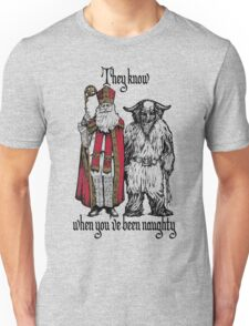 St Nik and Krampus Know Unisex T-Shirt
