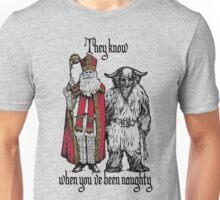 St Nik and Krampus Know Unisex T-Shirt
