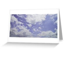 Voices in the Clouds 4 Greeting Card
