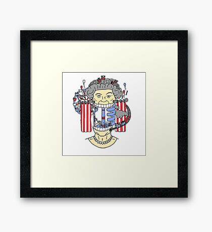 We are NOT amused ! Framed Print