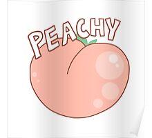Pink Peachy Peach Poster