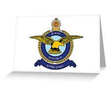 Sri Lanka Air force Greeting Card